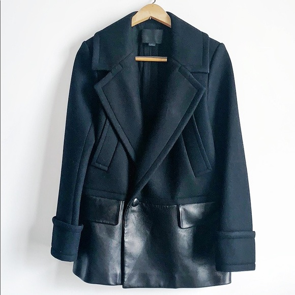 Alexander Wang Jackets & Blazers - Alexander Wang wool and leather jacket
